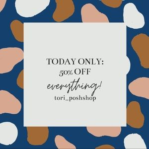 50% off everything sale!!